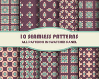 Vector of Seamless Patterns set Stock Images