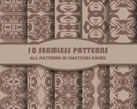 Vector of Seamless Patterns set Royalty Free Stock Photography