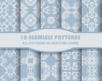 Vector of Seamless Patterns set Royalty Free Stock Image
