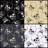 Vector  seamless patterns with skulls Royalty Free Stock Photography