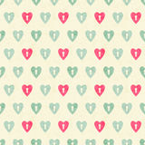 Vector seamless patterns with small hearts and keyholes Royalty Free Stock Photos
