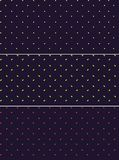 Vector seamless patterns or textures set with polka dots on violet background. Royalty Free Stock Image