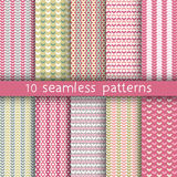 10 vector seamless patterns. Textures for wallpaper, fills, web page background. Set of geometric ornaments royalty free illustration