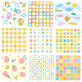 Vector seamless patterns for your design. Stock Images