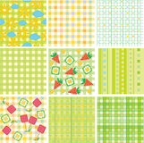 Vector seamless patterns for your design. Royalty Free Stock Photos