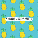Vector seamless pineapple pattern. Royalty Free Stock Images