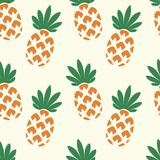 Vector seamless pineapple pattern Royalty Free Stock Image