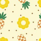 Vector seamless pineapple pattern Stock Photo