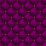 Vector seamless pink buttoned leather pattern . Upholstery or walls. Royalty Free Stock Photo