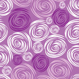 Vector Seamless pink rose pattern Stock Photo