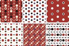 Vector seamless poka dot patterns Stock Images