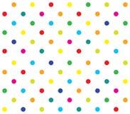 Vector seamless polka dot girl kids pattern Stock Images
