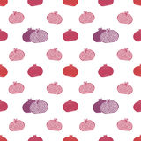 Vector seamless pomegranates pattern Royalty Free Stock Photos