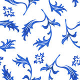 Vector Seamless Porcelain Pattern in White Background Royalty Free Stock Image