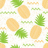 Vector seamless psummer attern with pineapples Royalty Free Stock Photo
