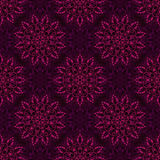 Vector Seamless Purple Mandala Pattern Royalty Free Stock Photos