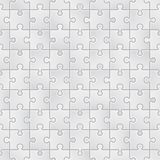 Seamless puzzle background made of little white pieces. Vector seamless puzzle background made of little white pieces Royalty Free Stock Images