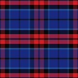 Vector seamless red and blue Scottish tartan Stock Photo