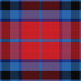 Vector seamless red and blue Scottish tartan Royalty Free Stock Photos