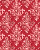 Vector. Seamless Red Classicism Wallpaper Royalty Free Stock Photography
