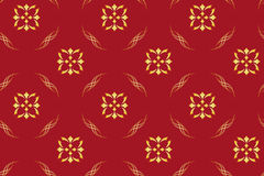 vector - seamless red geometrical pattern Royalty Free Stock Image