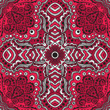 Vector seamless red pattern of spirals, swirls Royalty Free Stock Photography