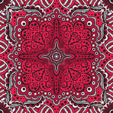 Vector seamless red pattern of spirals, swirls Stock Photo
