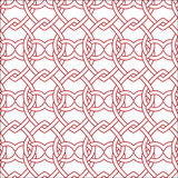 Vector seamless red and white pattern Royalty Free Stock Photos