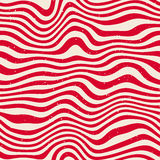 Vector Seamless Red White Wavy Distorted Lines Retro Pattern Royalty Free Stock Image