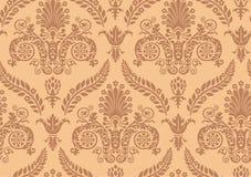 Vector. Seamless Renaissance Wallpaper. Seamless Renaissance Brown Historical Wallpaper Royalty Free Stock Images