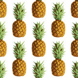 Vector seamless repeating pineapple pattern on Stock Photos