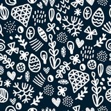 Vector seamless repeating wallpaper with figures royalty free illustration