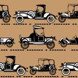 Vector seamless retro automobile. Pattern Stock Photo