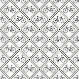 Vector seamless retro bicycle pattern. Royalty Free Stock Photography