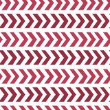 Vector seamless retro design background with red abstract arrows. Eps-8 Royalty Free Stock Image