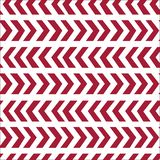 Vector seamless retro design texture with red abstract arrows on white background. Eps-8 Stock Photography