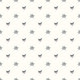 Vector seamless retro pattern, with bow tie and flower Bud Royalty Free Stock Images
