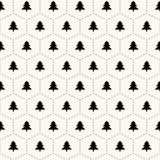 Vector seamless retro pattern, christmas trees. Vector seamless retro pattern, polka dot with christmas trees. Can be used for wallpaper, pattern fills, web page Stock Images