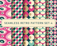 Vector seamless retro pattern design set Stock Image