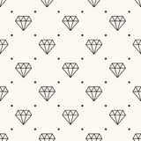 Vector seamless retro pattern, with diamonds. Can be used for wallpaper, pattern fills, web page background,surface textures royalty free illustration