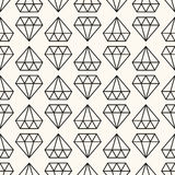 Vector seamless retro pattern, with diamonds. Stock Images