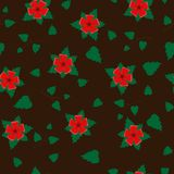 Vector seamless retro pattern, flowers. Can be used for web page background, fills drawings, wallpapers, surface. Vector seamless retro pattern, Flowers on Royalty Free Stock Photos