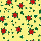 Vector seamless retro pattern, flowers. Can be used for web page background, fills drawings, wallpapers, surface. Vector seamless retro pattern, Flowers on Royalty Free Stock Images