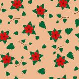 Vector seamless retro pattern, flowers. Can be used for web page background, fills drawings, wallpapers, surface. Vector seamless retro pattern, Flowers on Stock Images