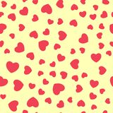 Vector seamless retro pattern, hearts. Can be used for wallpaper, pattern fills, web page background,surface textures. Eps 10 Stock Image
