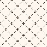 Vector seamless retro pattern with peace sign. Royalty Free Stock Images