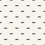 Vector seamless retro pattern. Polka dot with mustache. Can be used for wallpaper, pattern fills, web page background royalty free illustration
