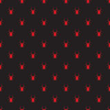 Vector seamless retro pattern spider Stock Photos