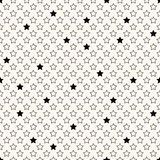 Vector seamless retro pattern with stars Royalty Free Stock Image