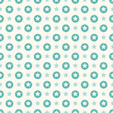 Vector seamless retro pattern with stars Stock Photos
